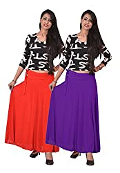 Ace Long Skirt-Red,Purple