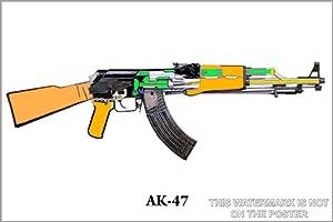 """AK-47 Schematic - 24""""x36"""" Poster"""