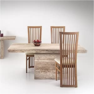 dining table 4 chairs set travertine marble alicante kitchen home. Black Bedroom Furniture Sets. Home Design Ideas