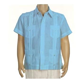 Boys linen guayabera in turquoise blue. Final sale