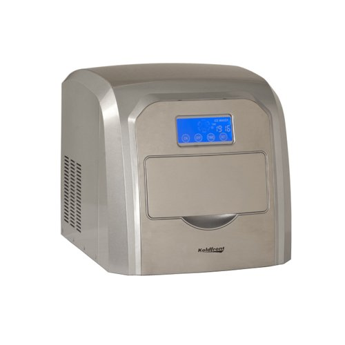 Koldfront KIM212SS Deluxe Stainless Steel Portable Ice Maker with LCD...