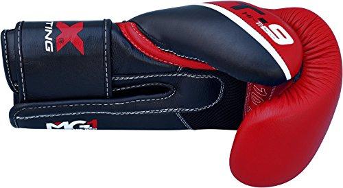 RDX Boxhandschuhe Sparring Rindsleder Training Kickboxhandschuhe Muay thai Sandsackhandschuhe, Rot, Gr. 12 oz -