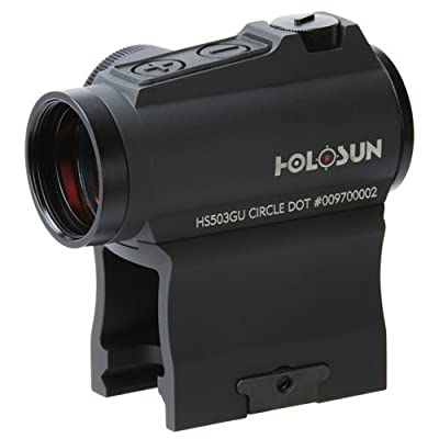 HOLOSUN HS503GU Circle Micro Red Dot Sight, 2 MOA Dot, 65 MOA Circle, Black from Holosun