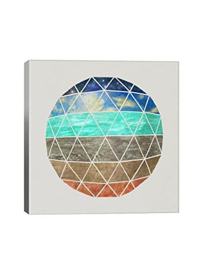 Terry Fan Elemental Geodesic Gallery-Wrapped Canvas Print