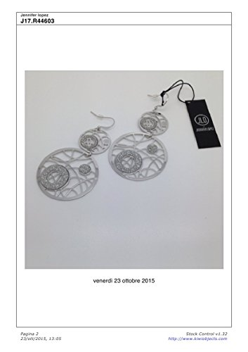 J17.R44603 Jlo by Jennifer Lopez Orecchini in Metallo