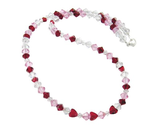 Swarovski Crystal Red Heart Necklace