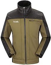 MAKINO Men39s Outdoor Fleece Warm-keeping Soft Shell Camping Jacket - Dark Blue - XXL