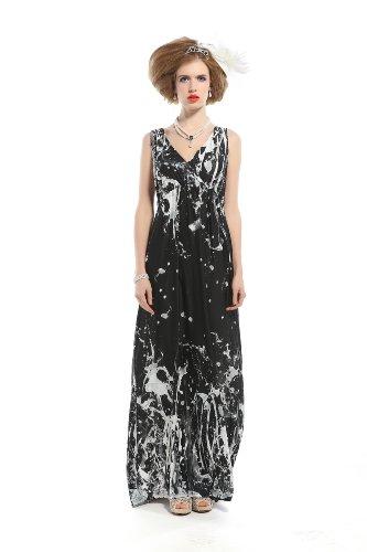 Polarfox Womens Floor Length Rockabilly Prom Evening Dresses 5X-Large Grey