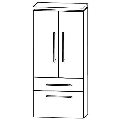 In Line Medium Cupboard (MNA886A5M) Bathroom Furniture, 30cm