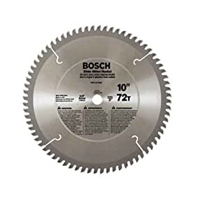 Bosch pro1072sm 10 inch 72 tooth atb miter saw blade with for 10 inch table saw blades