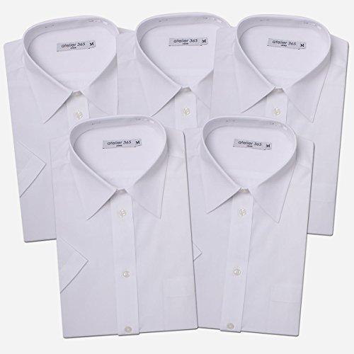 (アトリエサンロクゴ) atelier365 ワイシャツ 半袖 白5枚セット/at-ms-set-1060-zaiko-L-41