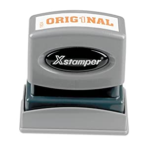 Xstamper One-Color Title Message Stamp, Original, Pre-Inked/Re-Inkable, Orange (1824)