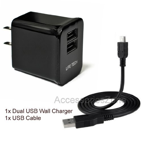 For Bose Ae2W / Series 2 Bluetooth / Quietcomfort 20 Headset Life-Tech 10W 2100Mah Dual Usb Ports Wall Home House Ac Charger W/ Usb Cable