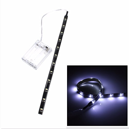 led strip light audew 12 inch 4 5v battery operated flexible light. Black Bedroom Furniture Sets. Home Design Ideas