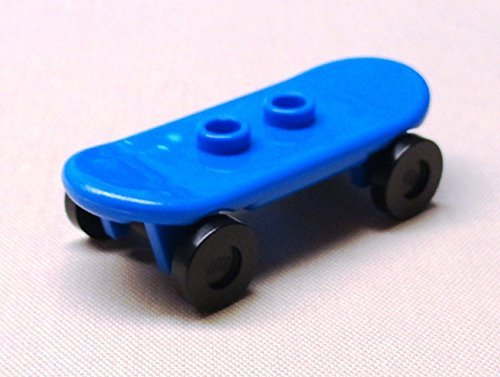 x1 NEW LEEGO Minifig Skateboard Blue w/ Wheels - 1