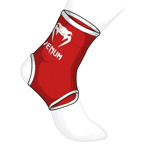 Venum MMA Muay Thai Ankle Supports - Red