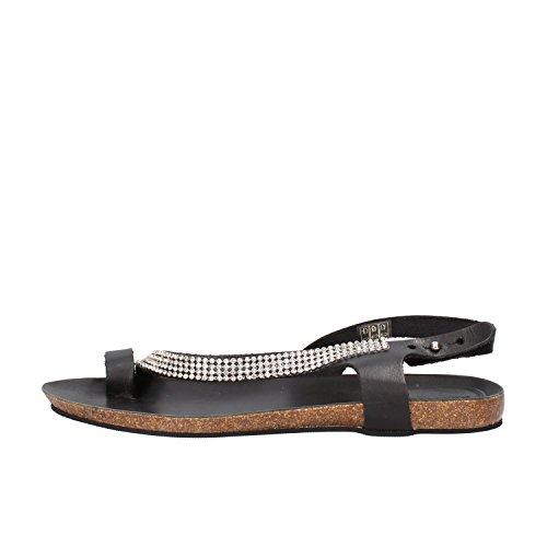 DOCKSTEPS sandali donna nero pelle strass AG856 (38 EU)