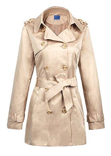iLoveSIA Women's Double Breasted Trench Coat US Size 6 Khaki