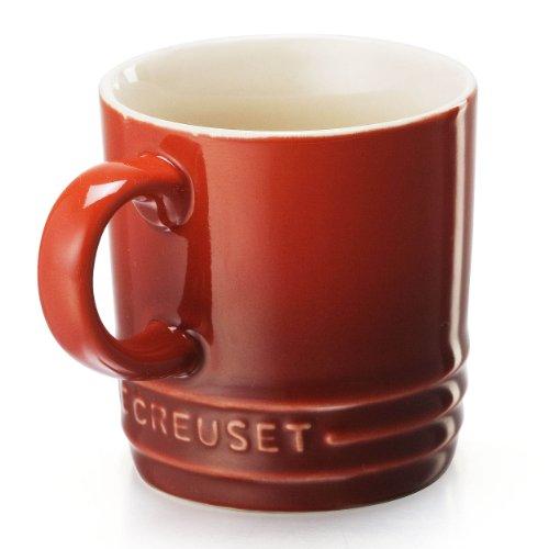 Le Creuset Stoneware Petite Espresso Mug, 3.5-Ounce, Cherry