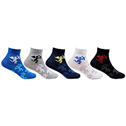 Bonjour Kids Cotton Ankle Length Cupid Designed Pack of 5 Pair Socks for 2-5 Years
