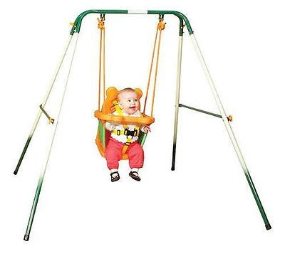 Sports-Power-Indoor-Outdoor-Toddler-Folding-Swing-Set-Baby-Kid-Play-Playground