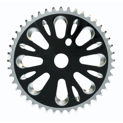 Black Ops BMX Chainring 1 Piece 44T 1/2 x 3/32 Steel Black