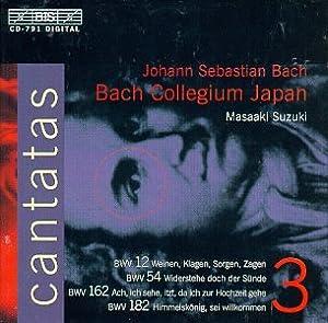 Bach : Cantates sacrées Vol. 3 BWV 12, 54, 162, 182