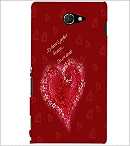 PrintDhaba Quote D-3192 Back Case Cover for SONY XPERIA M2 (Multi-Coloured)