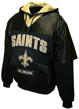 NFL Mens New Orleans Saints Drive Pullover Jersey Hoodie by MTC Marketing, Inc