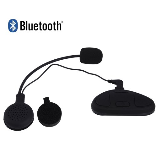 Sk-Bh-M1 Windproof Water Resistant Multipoint Bluetooth V2.1 Stereo Helmet Headset With Microphone - Black