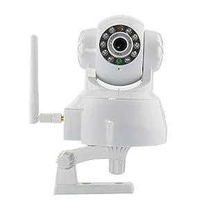 IP Camera Sans Fil Wi-Fi Web Cam Surveillance Motorisee avec vision de nuit Blanc