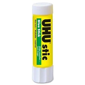 Saunders UHU 99655 Glue Stick, 1.41 oz., Clear/White