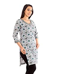 TeeMoods Women's Cotton Printed Kurta