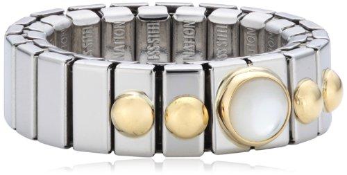 Nomination Damen-Ring Klein Mit 1 in Perlmutt Weiß Ring größe variabel 040101/012