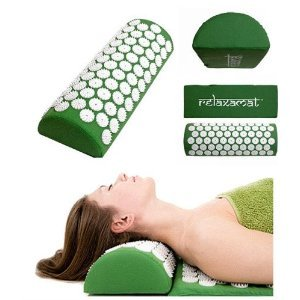 RelaxAmat Acupuncture Yoga Shakti Acupressure Spike Mat Set Mat & Pillow-Green