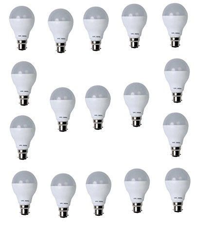 9 Watt LED Bulb (White, Pack of 17)