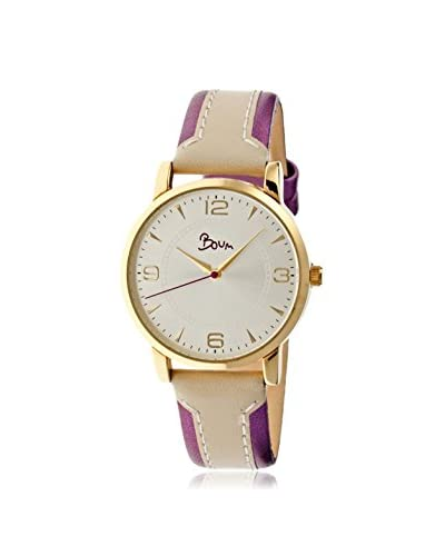 Boum Women's BM2206 Contraire Fushia/Silver Leather Watch As You See