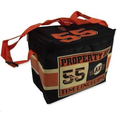 lunch box mlb san francisco giants tim lincecum property of lunch bag. Black Bedroom Furniture Sets. Home Design Ideas
