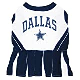 Mirage Pet Products Sports Dog Apparel Pet Costume Dallas Cowboys Cheerleading Dress Uniform MD