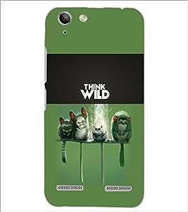 PrintDhaba Think Wild D-5961 Back Case Cover for LENOVO VIBE K5 PLUS (Multi-Coloured)