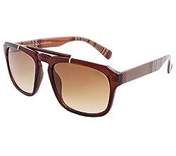 Laurels UV Protected Wayfarer Unisex Sunglasses -(ICO-0202|Brown Lens)