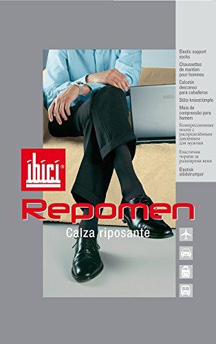 N. 3 Calzini Lunghi Uomo Riposanti IBICI ART. REPOMEN - Dalla S alla XL - Antracite, Nero, Blu (Nero, XL (45-46))