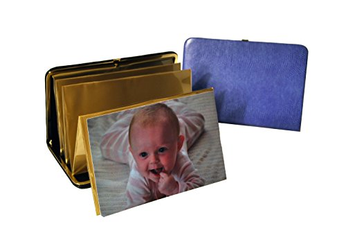 budd-leather-lizard-print-portable-framed-photo-case-4-by-6-inch-lilac