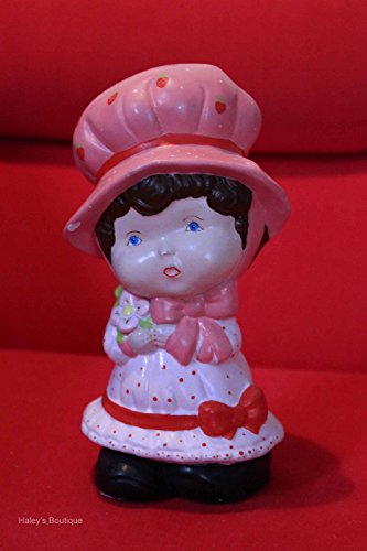 "Strawberry Shortcake Statue Vintage Antique Rare 8"" Tall 80's Collectible"