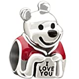Authentic Chamilia Disney Enamel Love, Winnie the Pooh Charm - 2020-0676