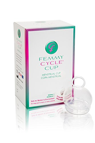 FemmyCycle Menstrual Cup Regular Size - No Spill Design using Highest Quality Medical Grade Silicone for Comfort, Durability and A Peace of Mind. Reusable, Eco-Friendly, and BPA-Free. Patented, Awarded, FDA Approved and Made in the USA