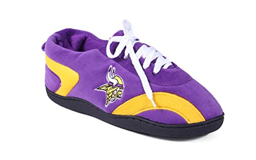 Happy Feet Mens and Womens Minnesota Viking - All Around Slippers - Medium (Comfy Feet Slippers Minnesota compare prices)