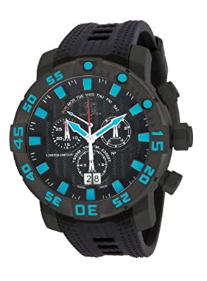 Invicta 14252 Mens 53mm Sea Base Limited Edition Swiss Chronograph Titanium Polyurethane Strap Watch