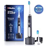 Mueller Sonic Rechargeable Electric Toothbrush with Dentist Recommended CrossClean Technology, Replacement Brush Heads, 5 Modes, IPX7 Fully Waterproof, Built-in Auto Timer 3D Cleaning Action