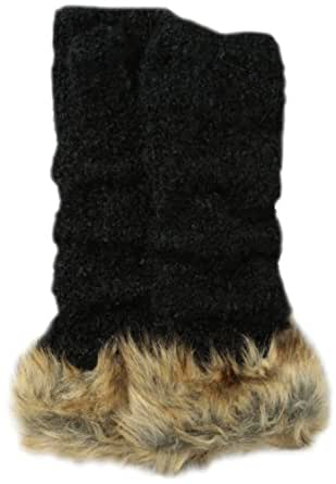 San Diego Hat Women's Fingerless Faux Fur Glove, Black, One Size